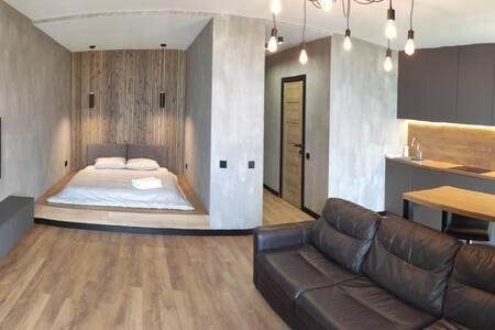 Квартира в стиле лофт с понорамным остеклением