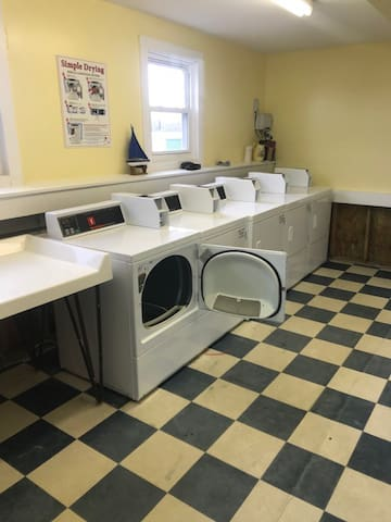 Dryers in the laundry room