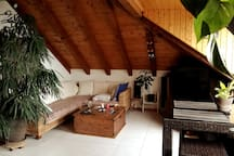Nice attic 2.5p room- 60m2 View on the lake
