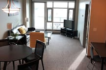 Open concept and great views from the 11th floor balcony.