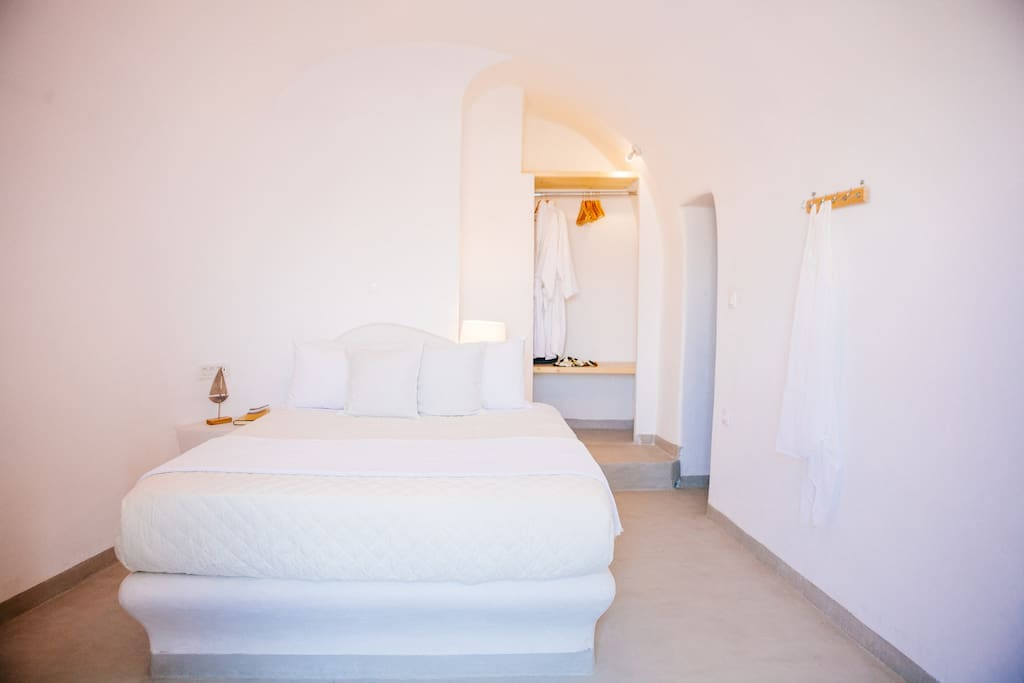 bright cycladic style bedroom