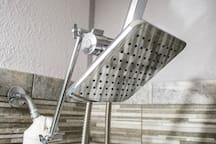 Luxury Rain Shower Head with Extended Height & filter.