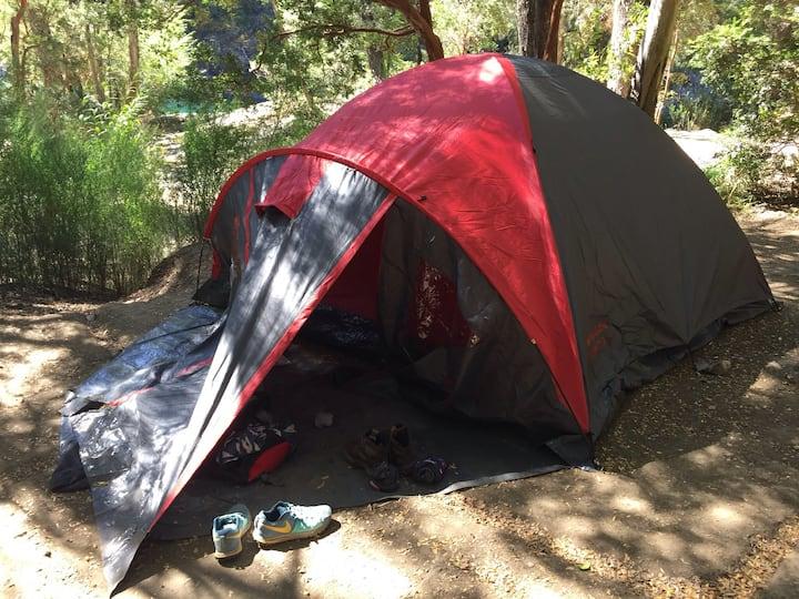 Camping en Campo Base Hielo Azul