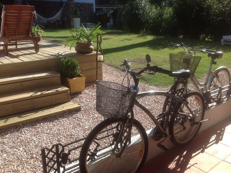 Bicicletas para uso de los huéspedes