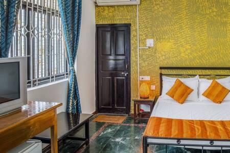 c.Ollie Stays - Siolim - North Goa - Quad Room - Siolim - Bed & Breakfast