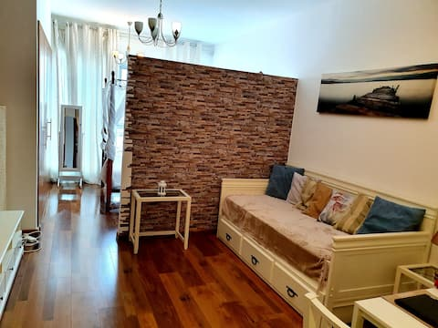 Modern upgraded studio in Skycourts, Dubai Land