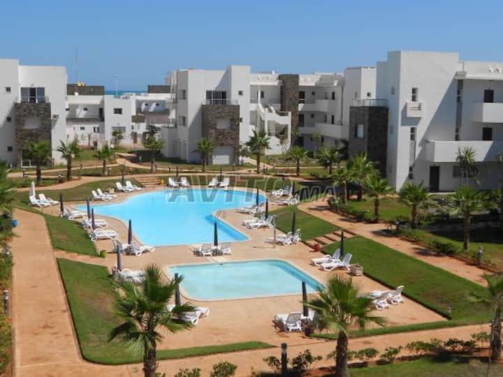 Perla Saidia Appart 3 chambres, wifi, plage a 300m