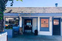Buono Restaurant. New to Lower Gibsons and a must visit while you're here for pasta eats, great vibe and fantastic view. Also within walking distance!   https://www.eatbuono.com/about