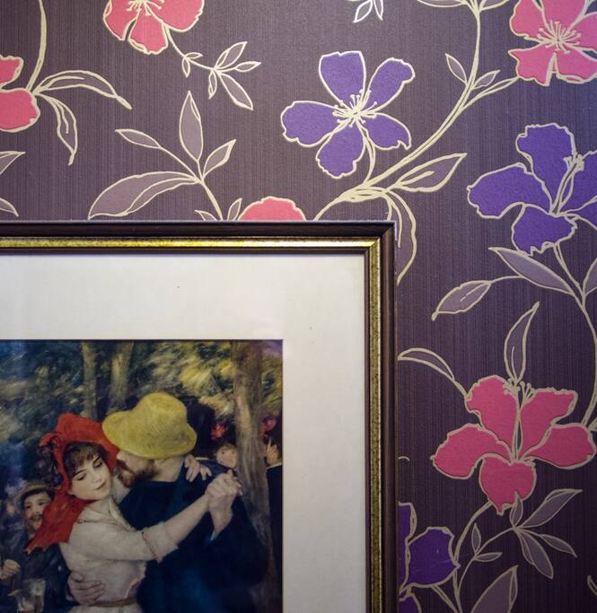 Renoir adding a romantic touch to The Marilyn Room