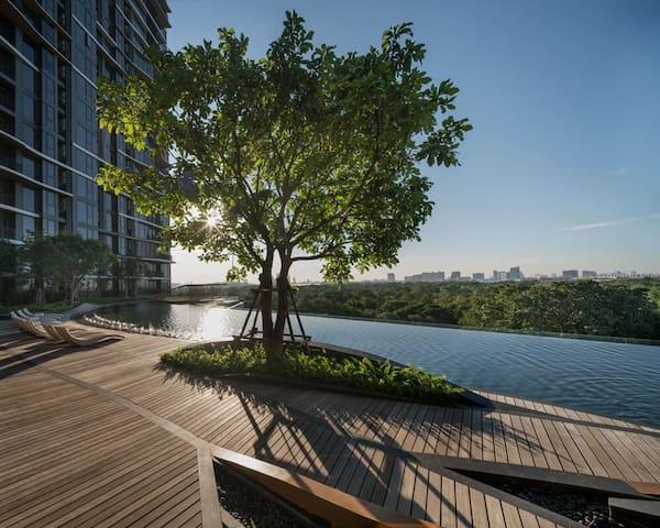 #7最新豪华曼谷市中心公寓@MO CHIT BTS列车/CHATUCHAK MRT列车