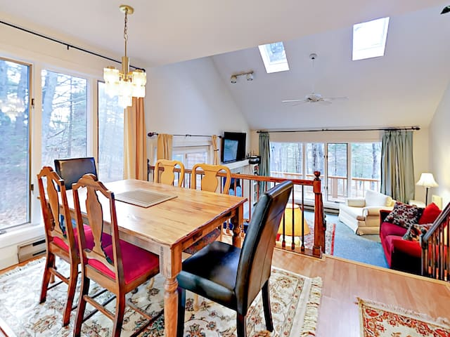 Enjoy hearty meals at the 6-person dining table.