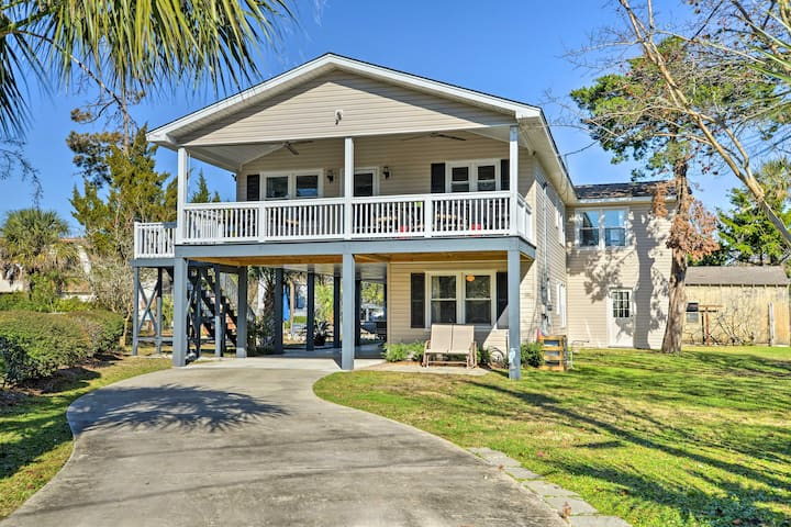 Canalfront Surfside Beach Home - Walk to Beach!