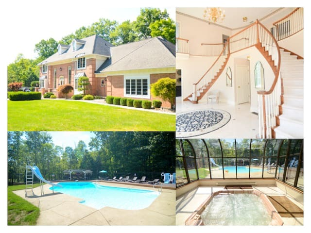 Luxury house with a pool, hot tub, movie theater.