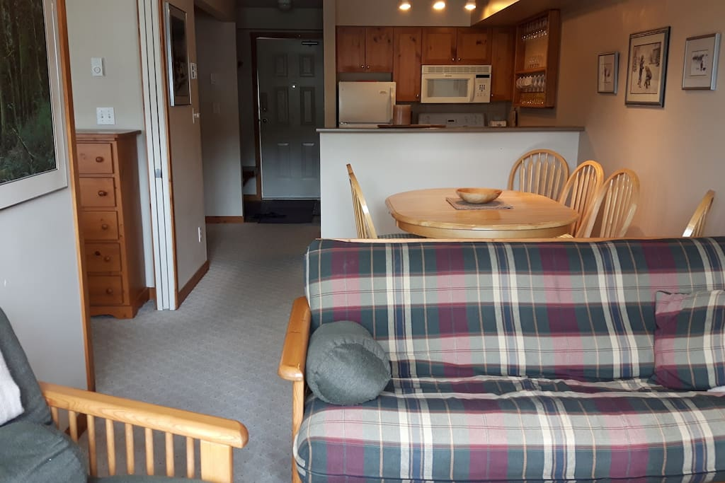 Open Concept Living and Dining Area - (Futon Sleeps 2)