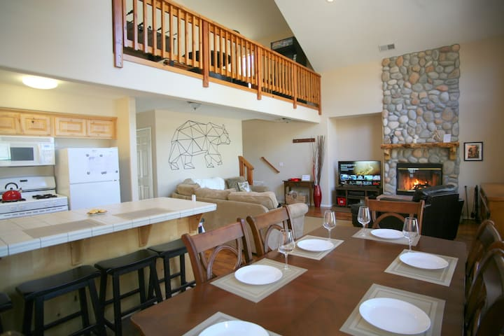 Extensive living area with additional game room on the loft to be long lasting fun memories