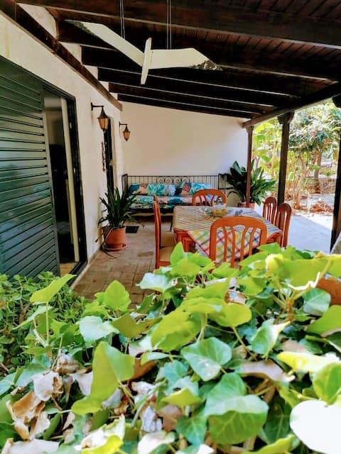 House with big garden near the beach