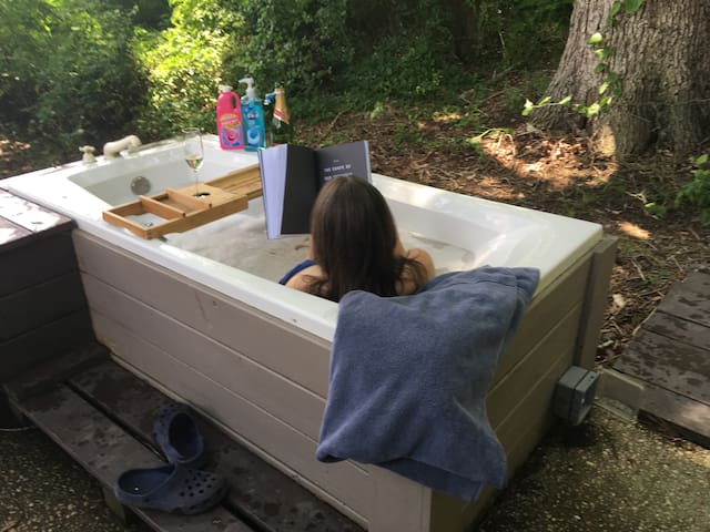 *BARN Take a Bubble Bath in Middle of the Woods!