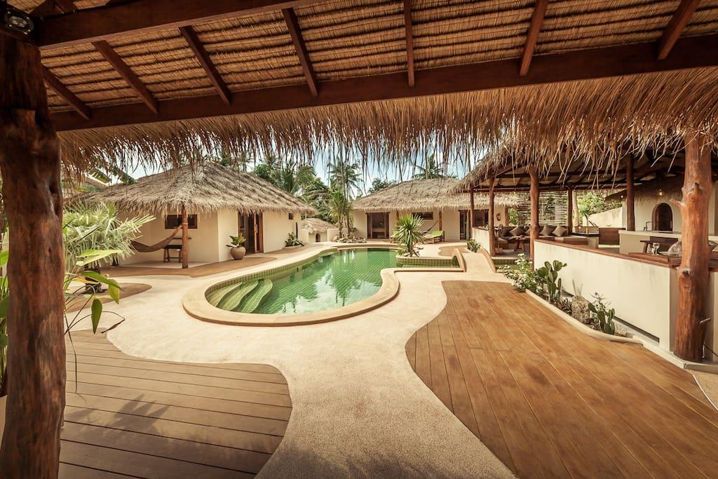 baan ya kha 10 guests privatetropical villa villen zur miete in th thailand. Black Bedroom Furniture Sets. Home Design Ideas