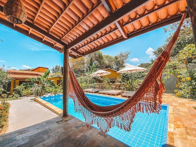 Vila Amarela Pipa casa aconchegante equipada