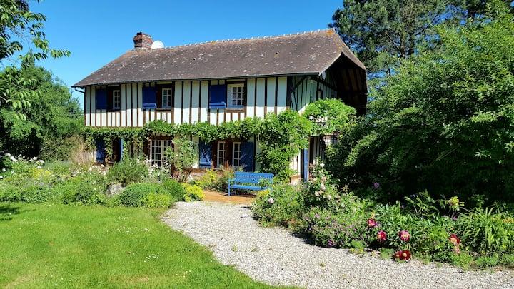 Maison normande de charme avec parc arboré