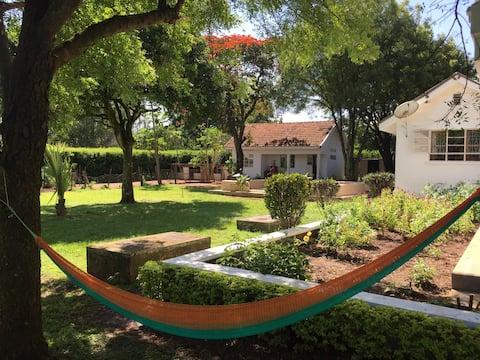 A quiet & cozy modern acholi village home.