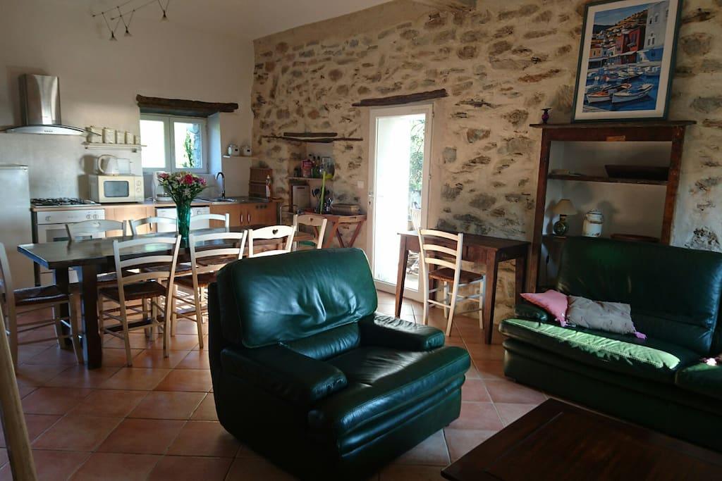salon-salle à manger