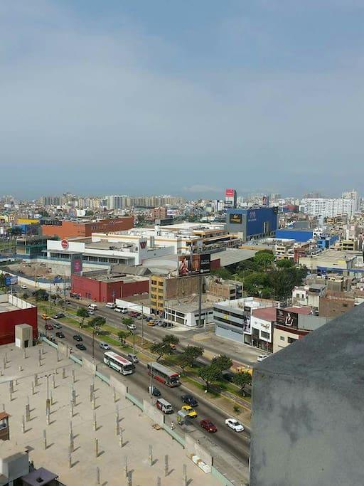 Vista desde el balcón hacia Plaza San Miguel