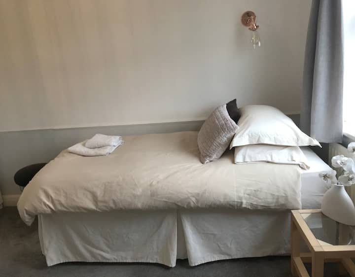 Single bed in large room 25 mins to central London