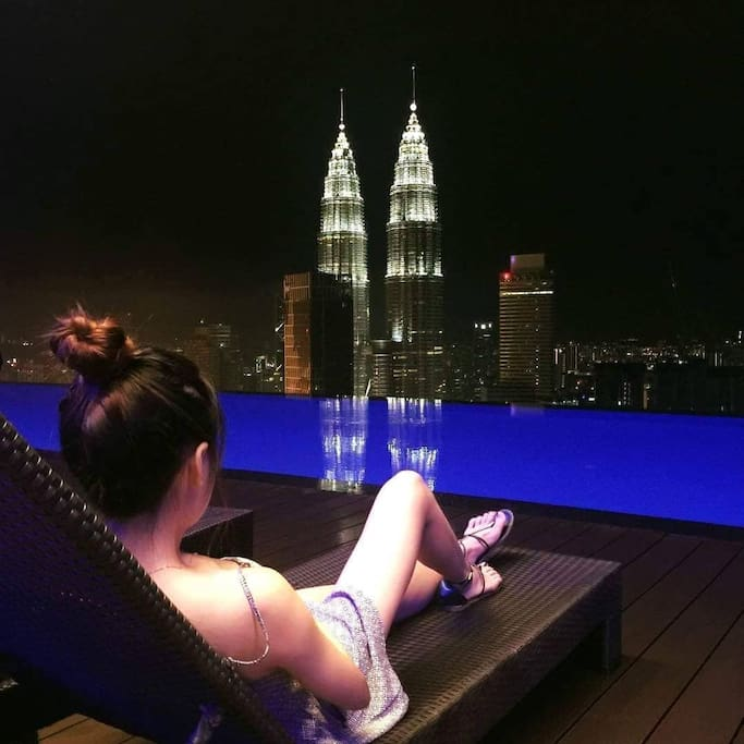 Perfect view from infinity pool