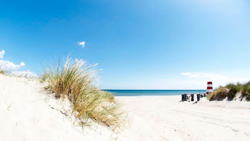Sommerbolig tæt ved Danmarks bedste strand (200m)