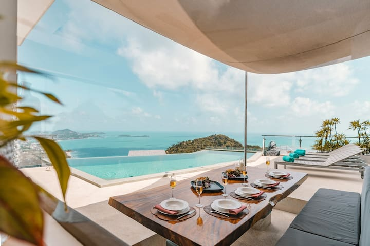 Paradise Villa: Sea View, Private Pool, Maid, BF