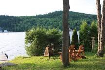 Feu près du lac