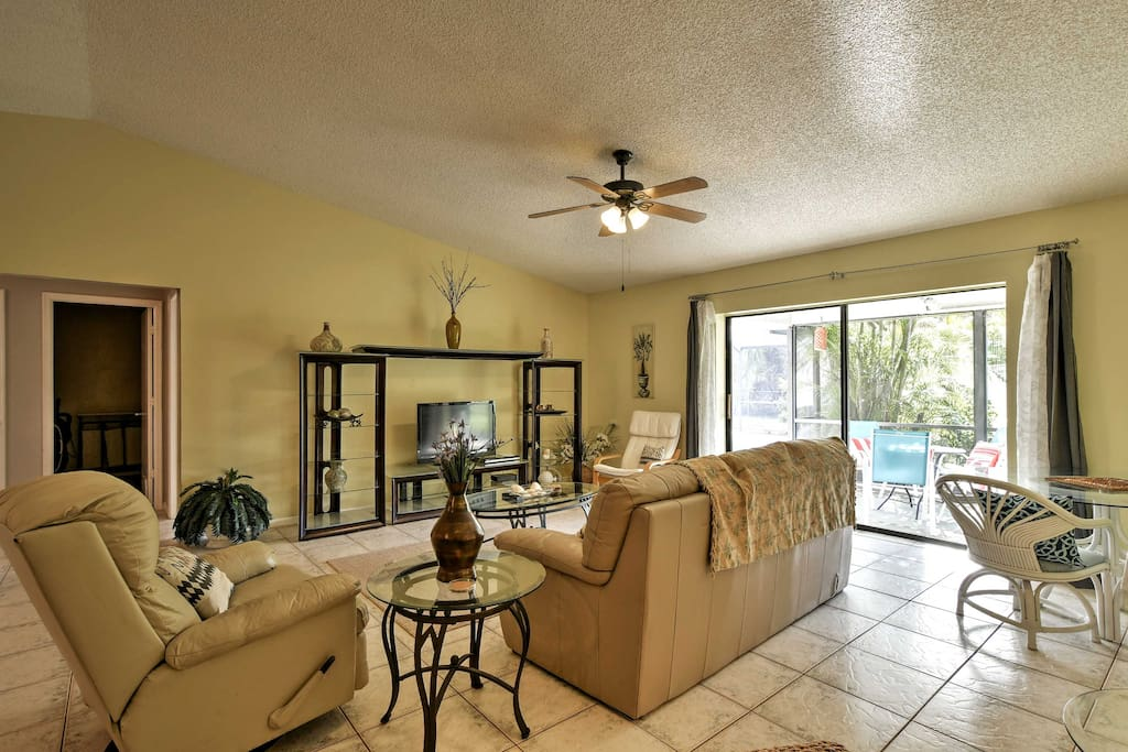 Make yourself at home in the interior, complete w/ furnishings & tasteful decor.
