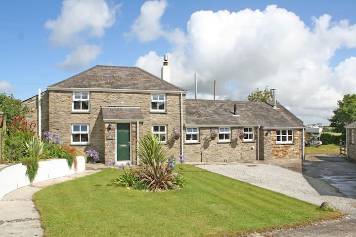 Private converted Barn in seaside village.
