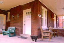 Front porch - all yours. Doesn't come with cat. (But it could . . .)