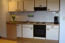 Küchenzeile im Appartement
