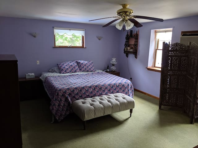 Master Bedroom with king sized bed!