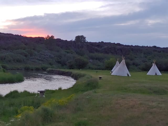 Lava Family Camp Ground East River Tribe Teepee 6