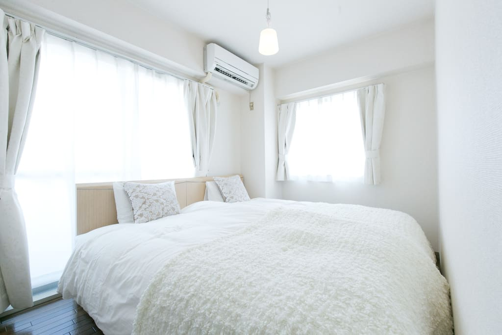 Bright when who want to be up, well-curtained when you want to sleep bedroom 2 with 2 single beds