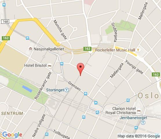 in the heart of Oslo, 2 min walk from Karl Johan, - Oslo - Appartement