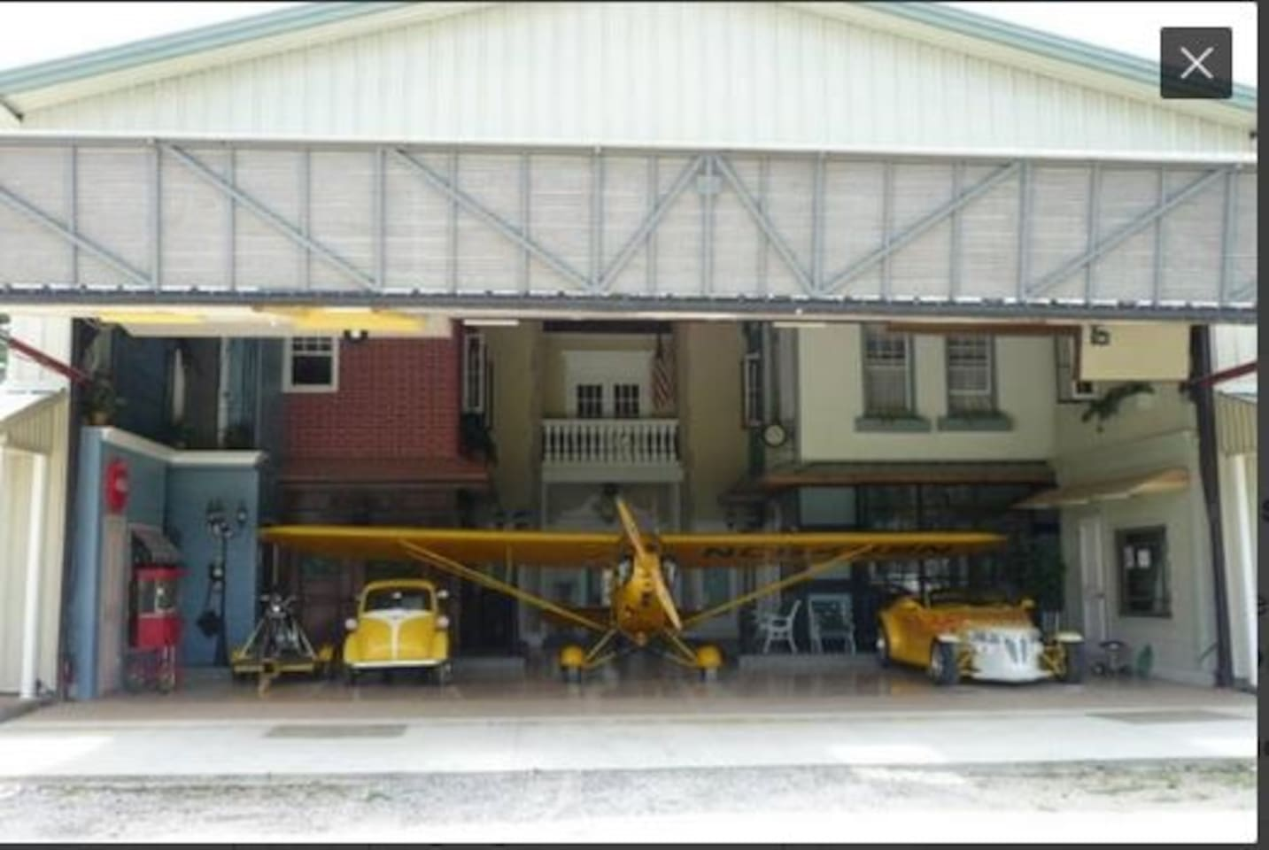 Airplane Hangar also available on Airbnb located on the same property.https://www.airbnb.com/rooms/2713449?s=67&shared_item_type=1&virality_entry_point=1&sharer_id=13885996