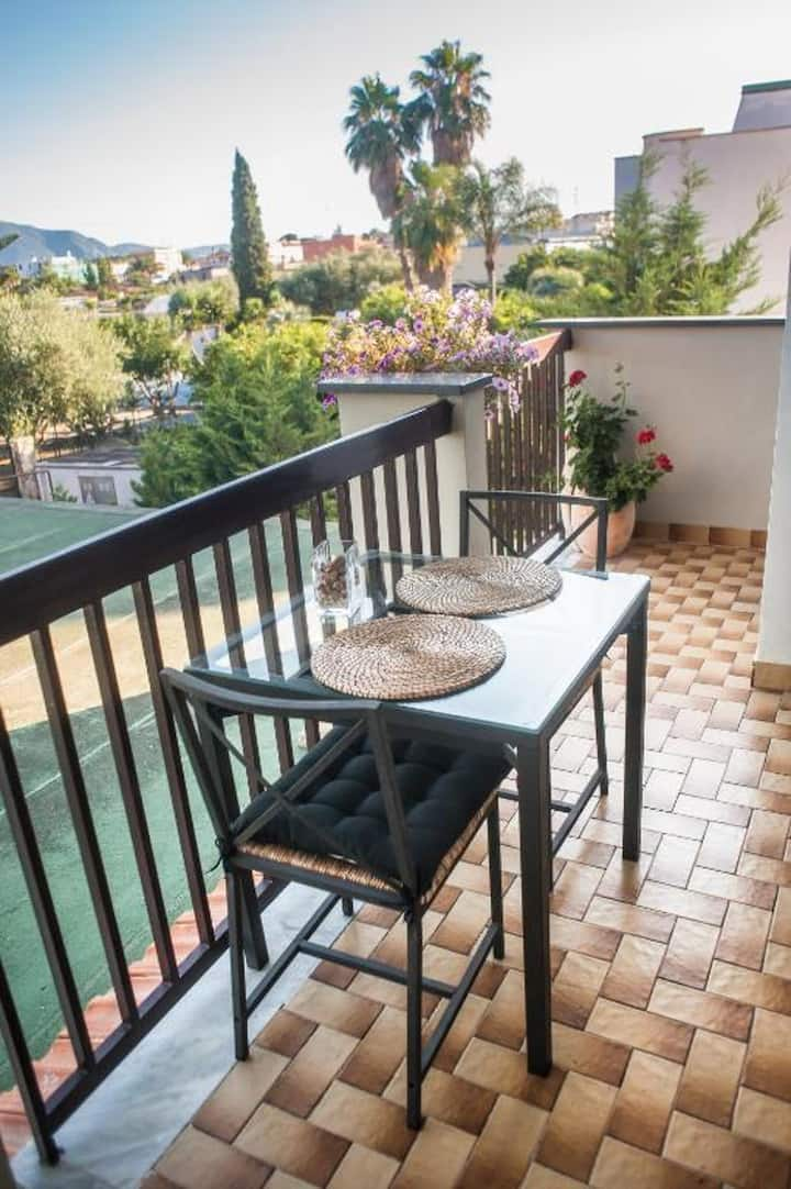 House with one bedroom in Pompei, with shared pool, terrace and WiFi - 7 km from the beach