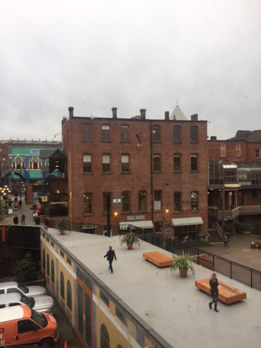 The view from the back windows which over looks Market Square and Johnson St (boutique district)