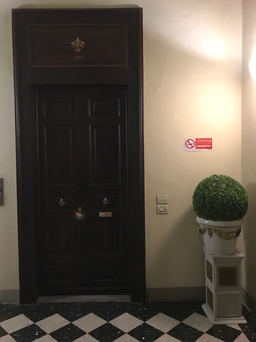 private apartment entrance