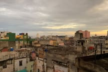 The kitchen's view. You can watch a good chunk of Havana.  La vista de la cocina. Puede mirar una parte grande La Habana.