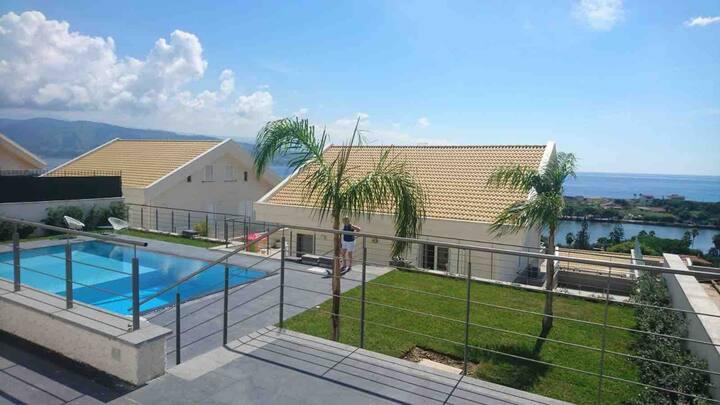 Sicily Family Villa with Pool & Gym near Beach