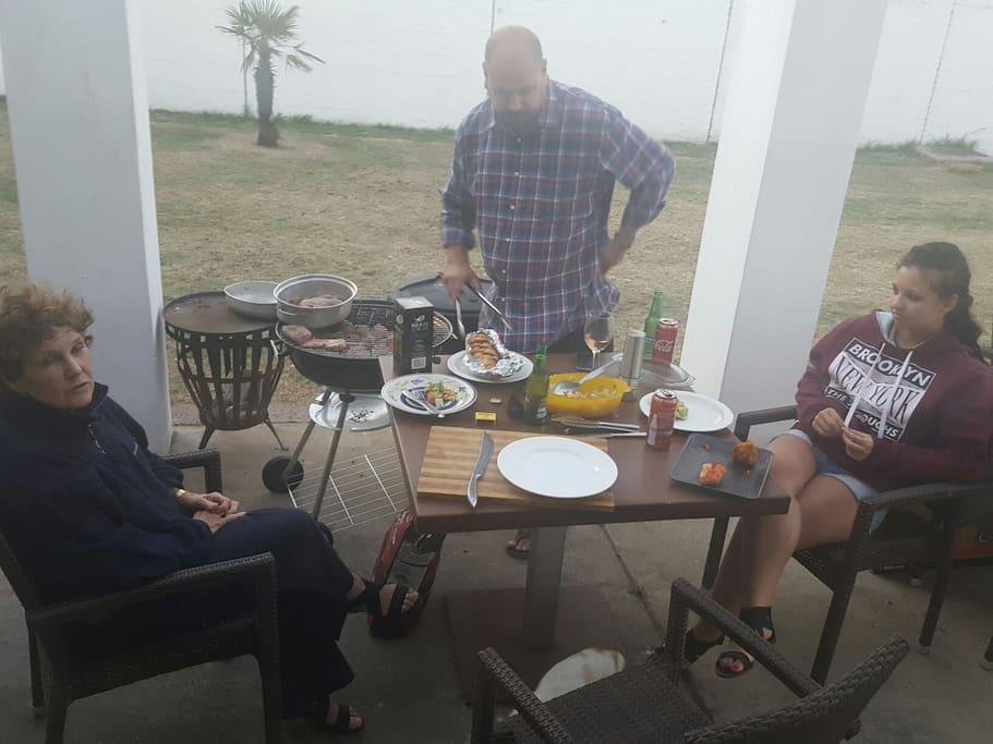 Barbecues on the porch.....