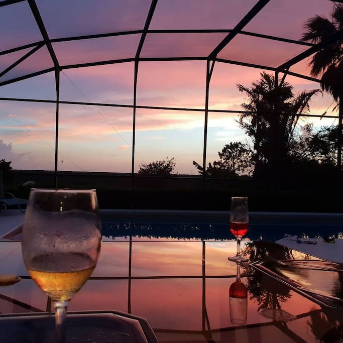Enjoy the sunset. Courtesy of our guest Esther.