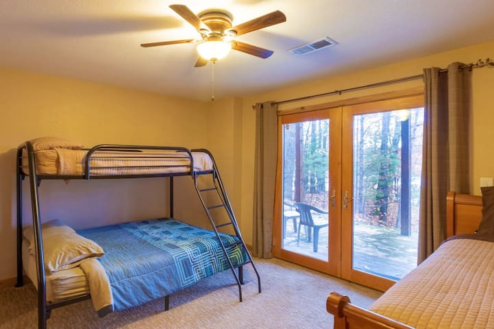 Kids love the bunk beds and also the view from their windows with their own private patio.