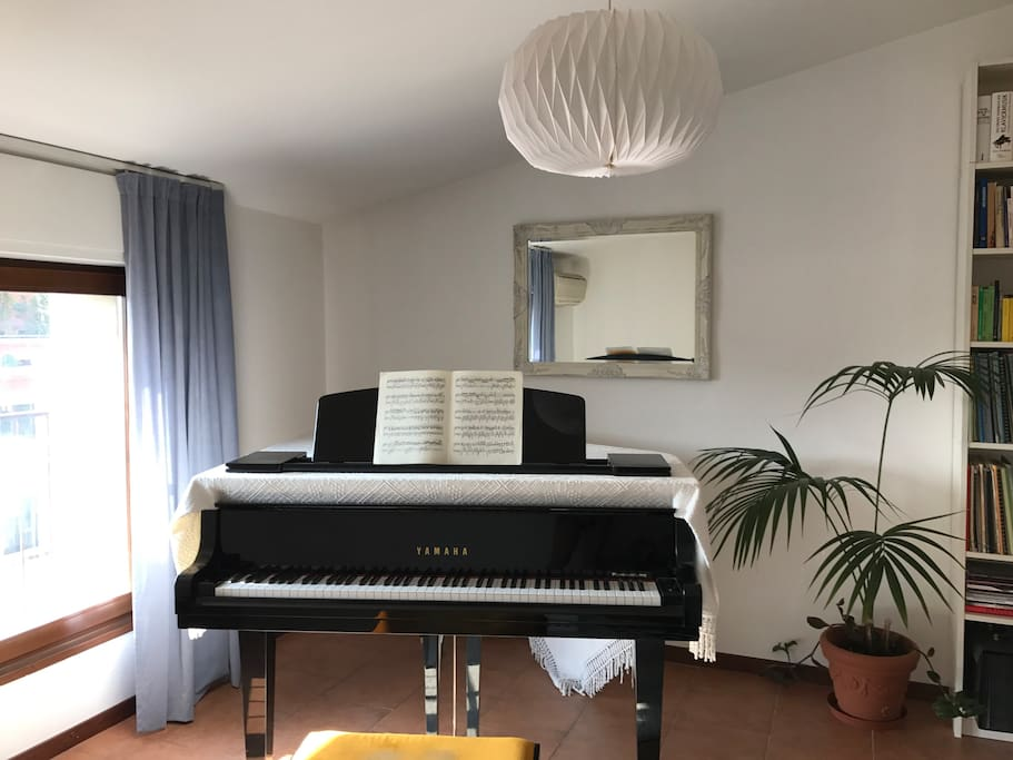 guestroom with my grand piano